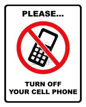 turn off cell phones sign 2 per page office templates